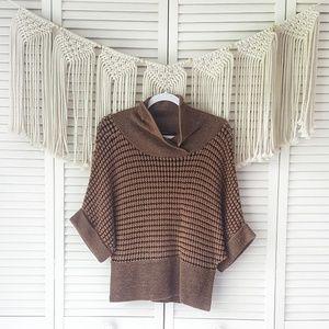 ANTHRO SITA MURT Brown Dolman Knit Chunky Sweater